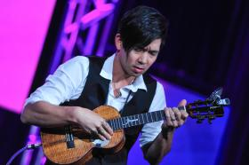 Jake Shimabukuro performs at the PBS Television Critics Association Winter Press Tour in Pasadena, CA on Tuesday, January 15, 2013.