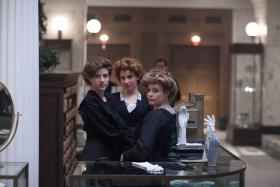 Shown from left to right: Aisling Loftus as Agnes, Amy Beth Hayes as Kitty and Lauren Crace as Doris.