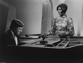 "Burt Bacharach with Dionne Warwick, who had a string of Bacharach-penned hits with ""Walk On By,"" ""I Say a Little Prayer,"" ""Alfie."""