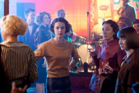 Shown: Helen George as Trixie Franklin, Jessica Raine as Jenny Lee, Dorothy Atkinson as Jane and Bryony Hannah as Cynthia Miller