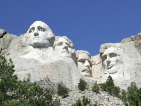 Full view of Mount Rushmore