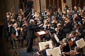 Conductor Pierre Boulez leads a concert featuring Mahler's Adagio from Symphony No. 10 and Des Knaben Wunderhorn in THE CLEVELAND ORCHESTRA IN PERFORMANCE: BOULEZ CONDUCTS MAHLER airing Friday, July 5 2013 at 9 p.m. on PBS.
