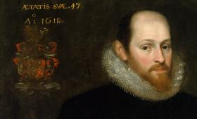 The famous Ashbourne portrait, purchased by the Folger Shakespeare Library, was long believed to be a depiction of William Shakespeare. But x-ray examination in 1940 revealed that the artwork had been painted over, covering what many believe to be the lost portrait of Edward DeVere, 17th Earl of Oxford. The debate still rages as to the true identity of the subject.