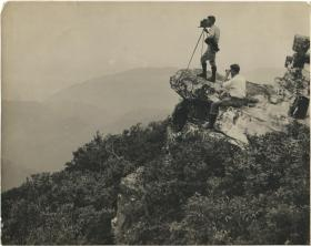 George Masa photographing the Smokey Mountains