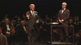 The Cascade Symphony Orchestra performs stirring 19th-century European anthems accompanied by evocative video images. Playing musical tour guide, Rick Steves utilizes his extensive knowledge of European history and culture to help set the context for each piece. Pictured, Rick with Conductor Michael Miropolsky.