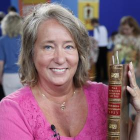 At ANTIQUES ROADSHOW in Des Moines, this guest learns an incomplete but genuine 1623 Shakespeare First Folio, part of the original published collection of William Shakespeare's plays, is estimated to have a significant worth of $40,000 to $50,000.
