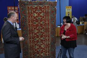 At ANTIQUES ROADSHOW in El Paso, Texas, appraiser James French extols the virtues of this ca. 1570 Oushak (Turkish) rug, purchased by the guest's uncle for $350, then conservatively values the carpet at between $30,000 and $40,000.