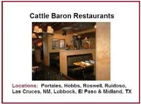 Started by Jeff Wilson in 1976 in Portales, Cattle Baron was one of the first donors to the KENW Auction. Besides the 8 Cattle Baron Restaurants, you can also use your gift card at Farley's, with locations in Roswell, Ruidoso and Las Cruces, and at Pasta Cafe in Roswell.
