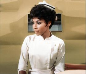 Diahann Carroll as Julia, TV's first African-American woman in a  non-servant role.