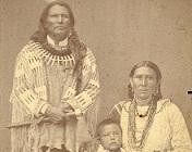 Standing Bear with his family.
