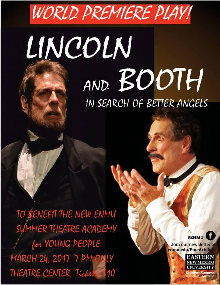 Lincoln and Booth World Premiere Poster