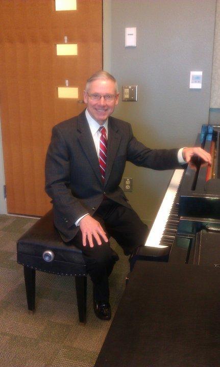 John Olsen at the Piano