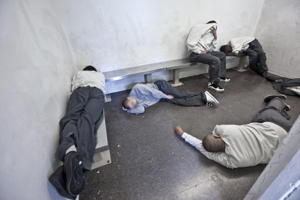 A holding cell.
