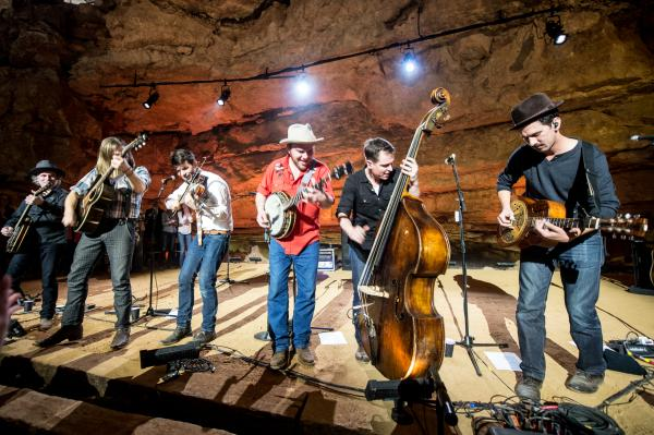 Few bands have done as much to bring new audiences and young fans to bluegrass/old-time music as the atomic-powered string band Old Crow Medicine Show (pictured).