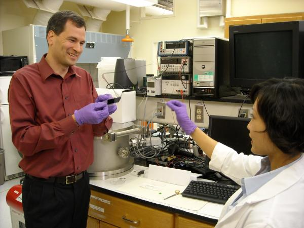 What is the world's strongest material? From steel to Kevlar and spider silk to carbon nanotubes, host David Pogue looks at the ways in which science and nature work to make strong stuff. Pictured: David Pogue and Chihye Lewis stretching a carbon nanotube forest