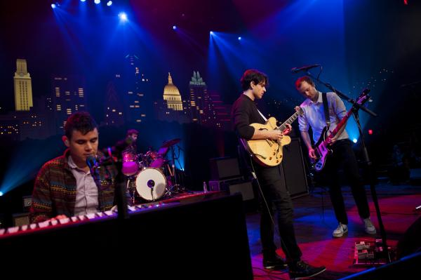 Indie rock band Vampire Weekend plays songs from its latest Modern Vampires of the City.