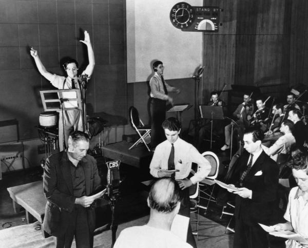Orson Welles is seen rehearsing his radio depiction of H.G. Wells' classic, The War of the Worlds on October 10, 1938. The broadcast, which claimed that aliens from Mars had invaded New Jersey, terrified thousands of Americans.
