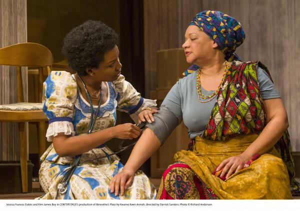 Jessica Frances Dukes and Kim James Bey in CENTERSTAGE's production of Beneatha's Place by Kwame Kwei-Armah, directed by Derrick Sanders.