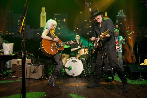 Country legends Emmylou Harris and Rodney Crowell play favorites and songs from their joint LP Old Yellow Moon.