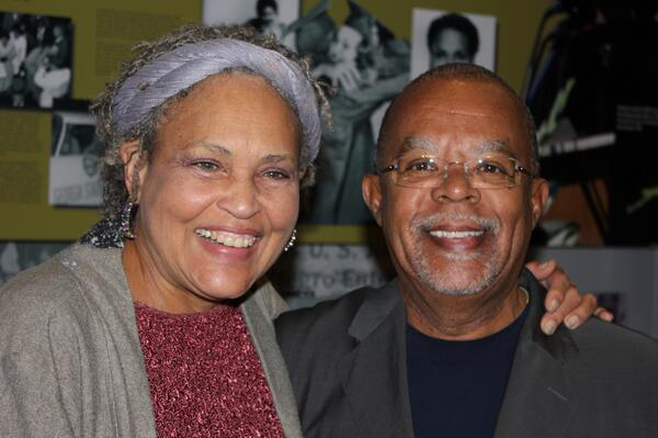 Charlayne Hunter-Gault and Henry Louis Gates, Jr. during the filming of The African Americans: Many Rivers to Cross with Henry Louis Gates, Jr.