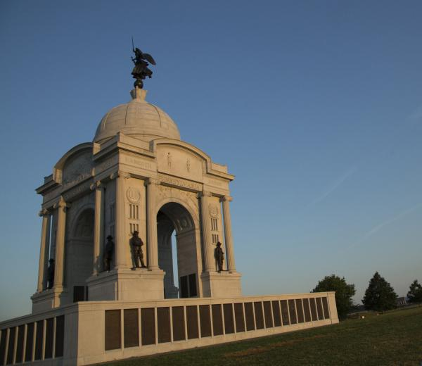 Pictured, The Pennsylvania Memorial at the Gettysburg battlefield. Photo credit: Jake Boritt.