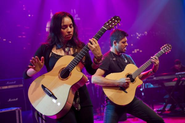 Famed Mexican guitar duo Rodrigo y Gabriela performs a unique fusion of flamenco, jazz and rock.