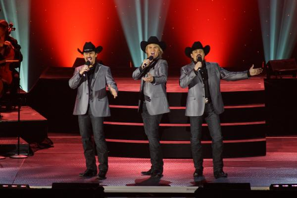 Combining breathtaking vocals, humor and cowboy charm, the Texas Tenors — JC Fisher (left), Marcus Collins (center) and  John Hagen (right) — perform great music from the worlds of country, folk, opera and Broadway.