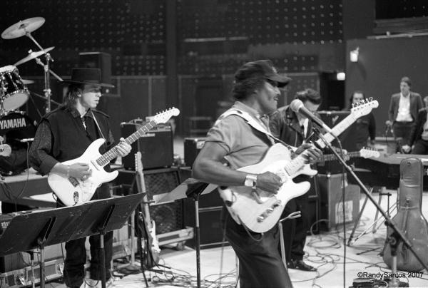"""Frosty"" features Stevie Ray Vaughan (left), Albert Collins (center) and Jimmie Vaughan."