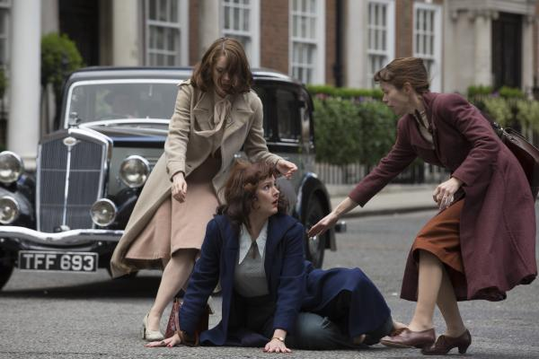 Shown from L-R: Sophie Rundle as Lucy, Rachael Stirling as Millie, Anna Maxwell Martin as Susan