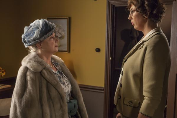 Shown: Cheryl Campbell as Lady Browne and Miranda Hart as Chummy Noakes