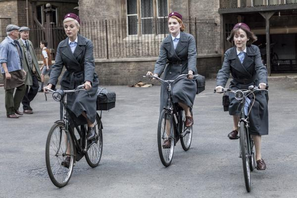 Shown: Helen George as Trixie Franklin, Emerald Fennell as Patsy Mount, Bryony Hannah as Cynthia Miller