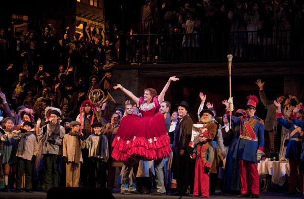 """Jennifer Rowley in her Met debut as Musetta in Puccini's """"La Bohème"""" on March 19, 2014."""