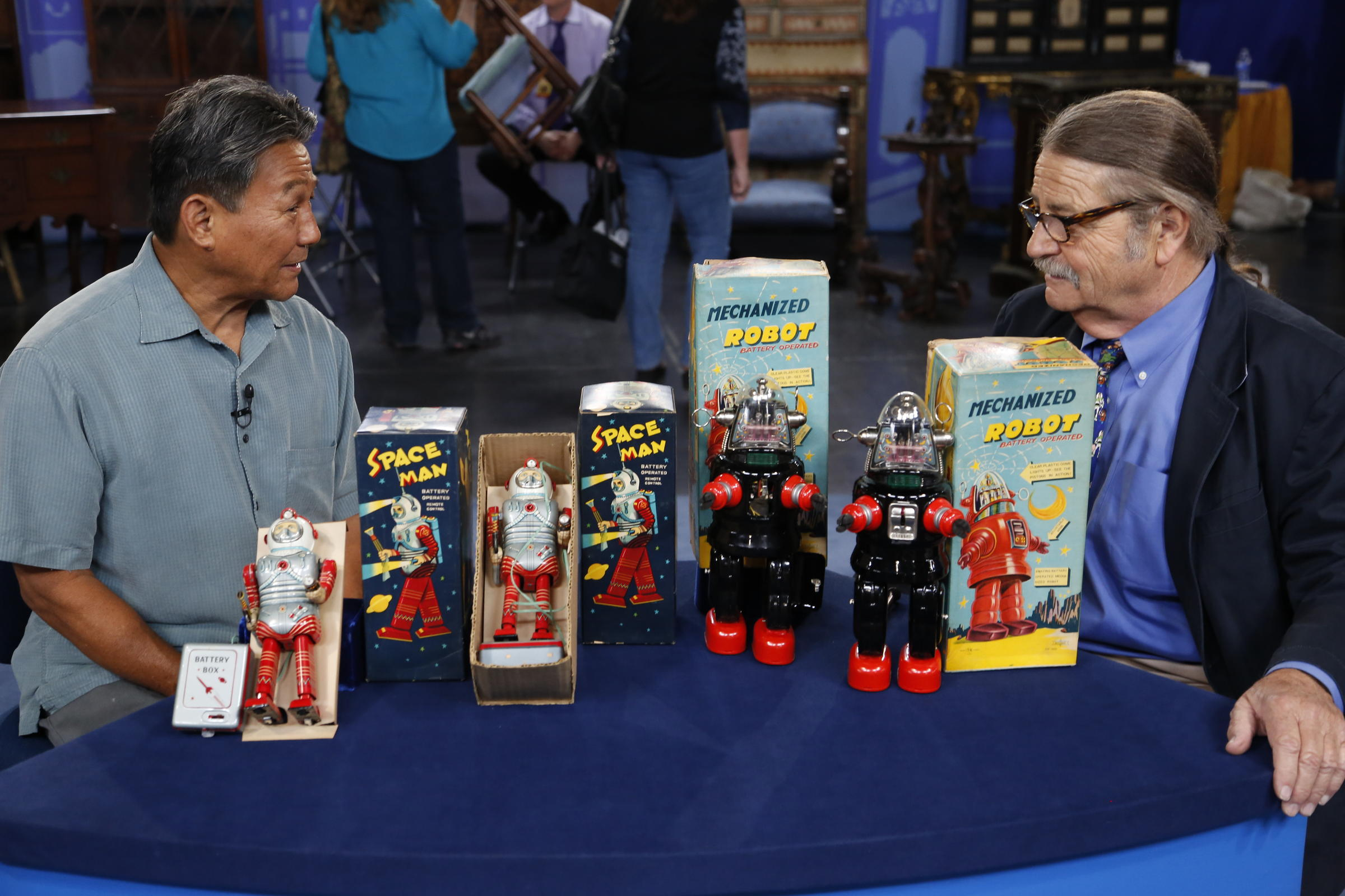 Noel Barrett (right) appraises Japanese spaceman and robot toys ca. 1960 for $7000 to $11000 in Anaheim California.  sc 1 st  KENW & Hollywood costume jewelry is featured on Antiques Roadshow on May ...