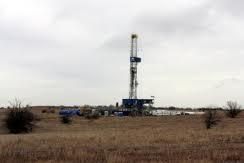 Barnett Shale drilling rig in Fort Worth