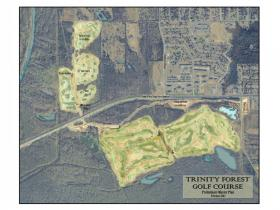 Designer rendering of proposed Trinity Forest golf course.