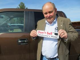 Oklahoma State Sen. Jerry Ellis campaigned against selling water to Texas.