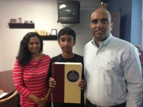 Chetan's mom Geetha Manku and his dad Vijay Reddy used to help their son study. But now, he's just too fast for them.
