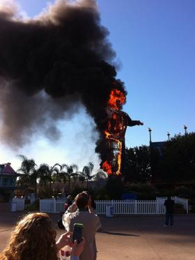 Within a few minutes, Big Tex was toast.