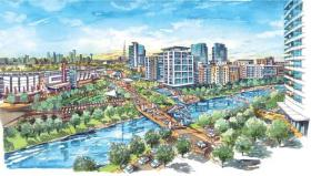 Plans for The Canyon in Oak Cliff include a hotel, residential living and retail at Interstate 30 and Westmoreland in Dallas.