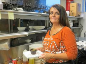 Gloria Hulsey says her restaurant job has given her a second chance after prison.