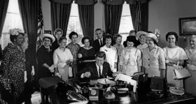 President John F. Kennedy signed the Equal Pay Act in 1963.