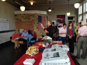 Supporters of incumbent Congressman Ralph Hall gathered in downtown Rockwall Tuesday night, preparing to follow election results.