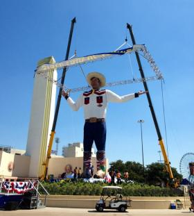 The new-and-improved Big Tex was unveiled in 2013.