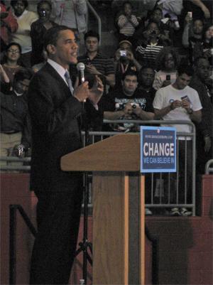 Barack Obama at Duncanville Highschool