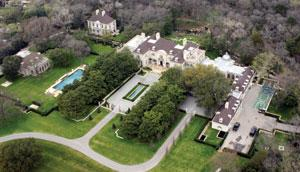 Tom Hicks 20-acre estate in North Dallas.