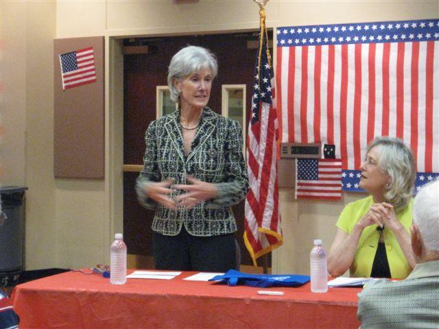 Secretary Sebelius addresses seniors in Irving during previous Texas visit.