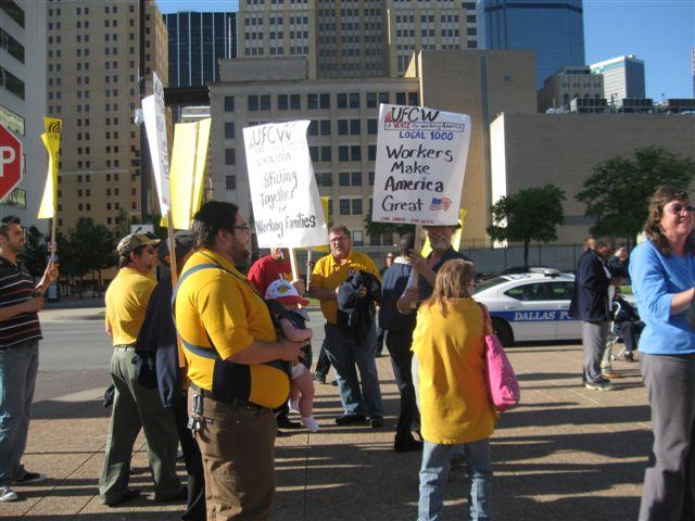 Union Workers Join Rally For Dallas Sanitation Workers Pay Raise