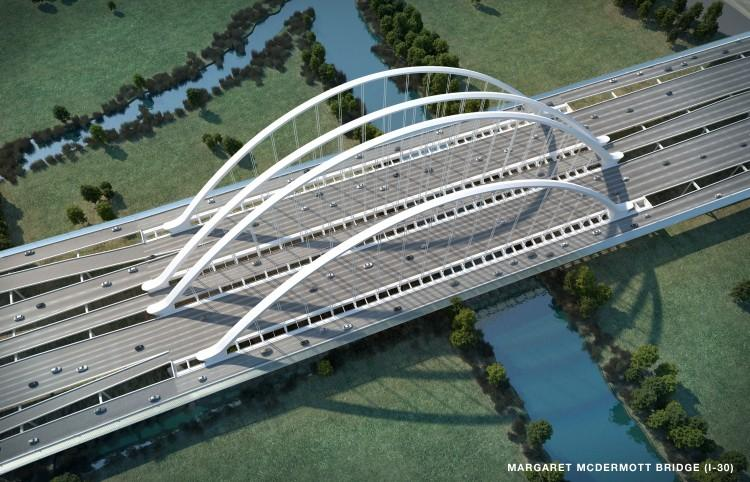 Original Calatrava design for Margaret McDermott Bridge