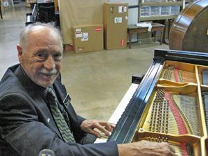 Franz Mohr, retired Steinway Master Technician.