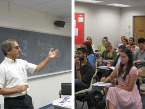 SMU professor Rick Halperin & Class